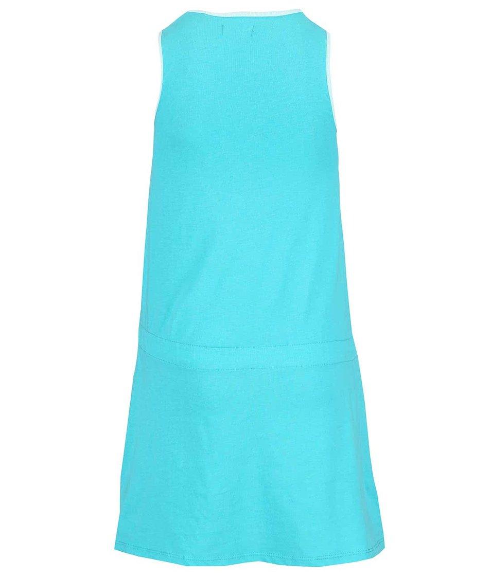 Modré holčičí šaty s potiskem Blue Seven Smile