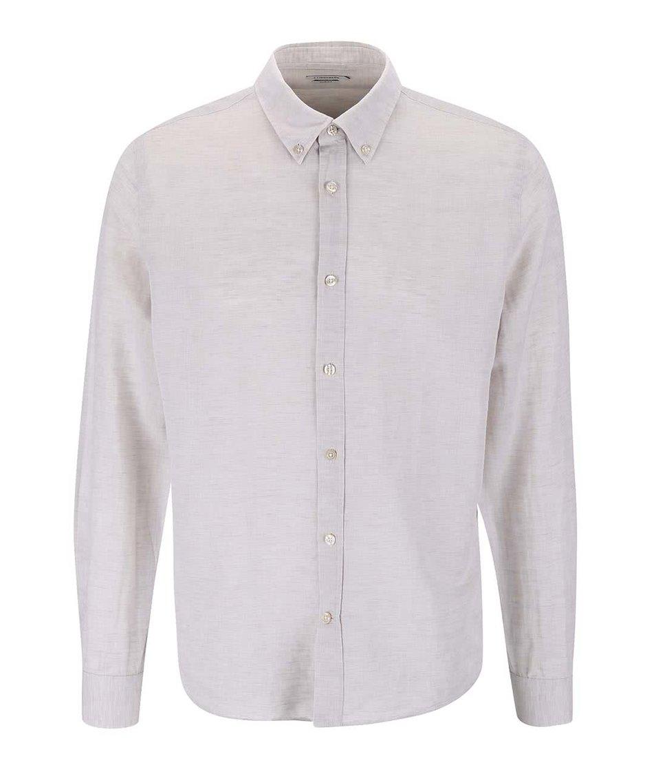 Béžová lněná košile J.Lindeberg Dani