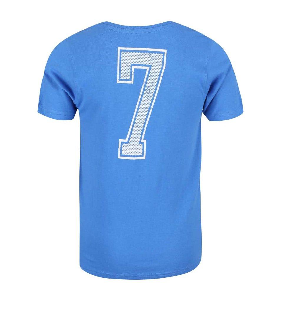 Modré klučičí tričko s potiskem fotbalového míče Blue Seven