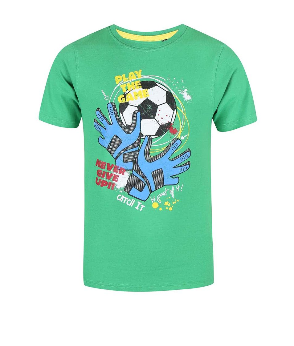 Zelené klučičí tričko s potiskem Blue Seven