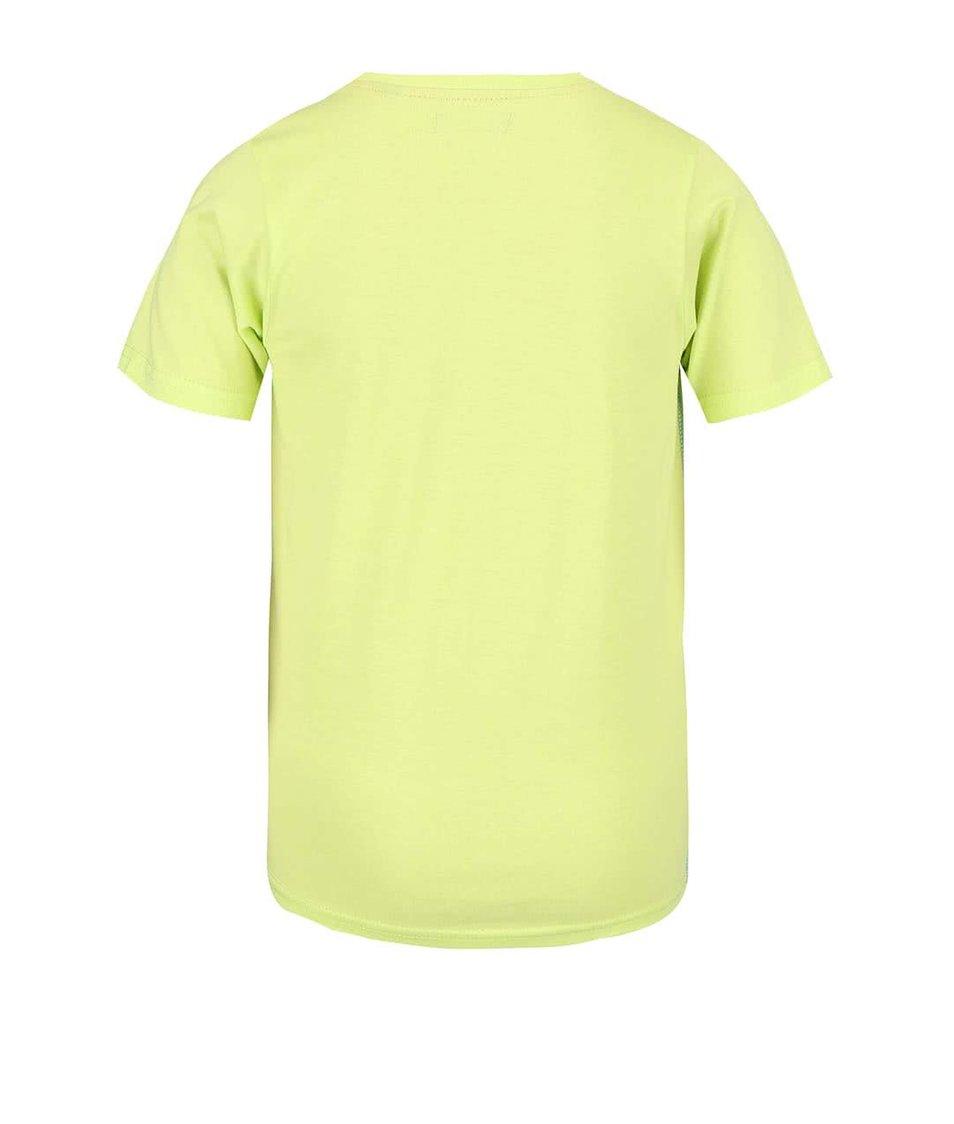 Světle zelené dětské triko s hudebním potiskem Blue Seven