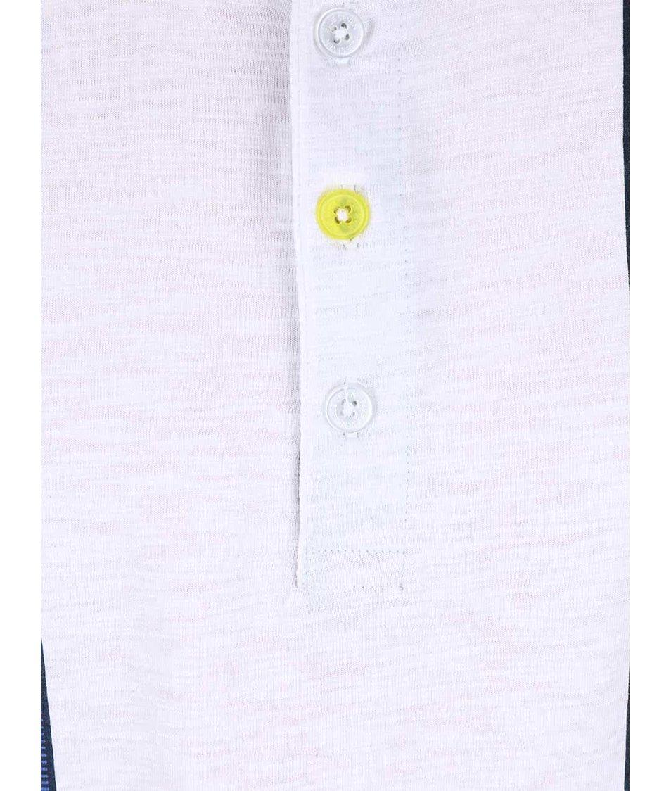 Bílé klučičí tričko s knoflíky a potiskem kšand Blue Seven