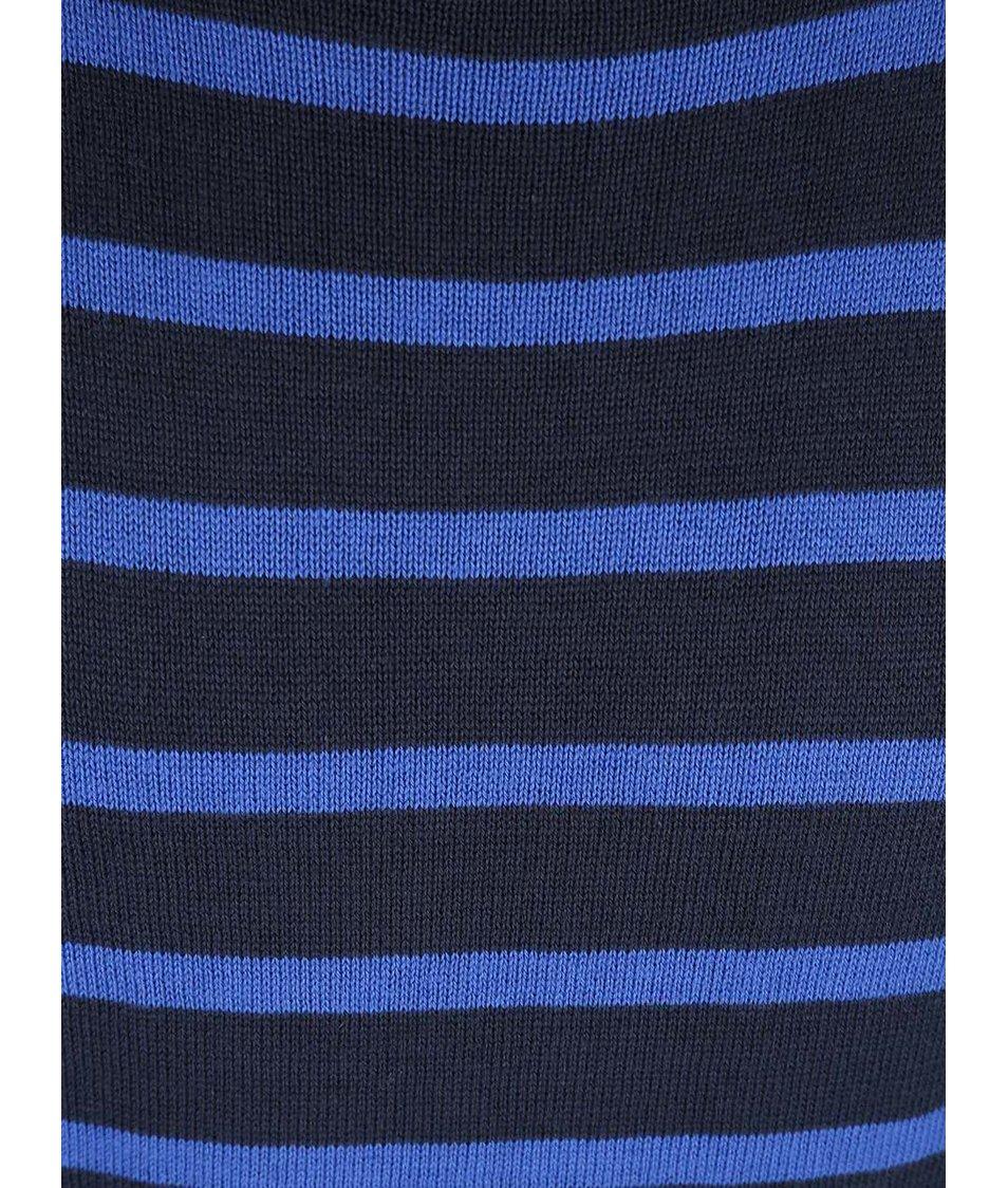 Černo-modrý dětský pruhovaný svetr Blue Seven