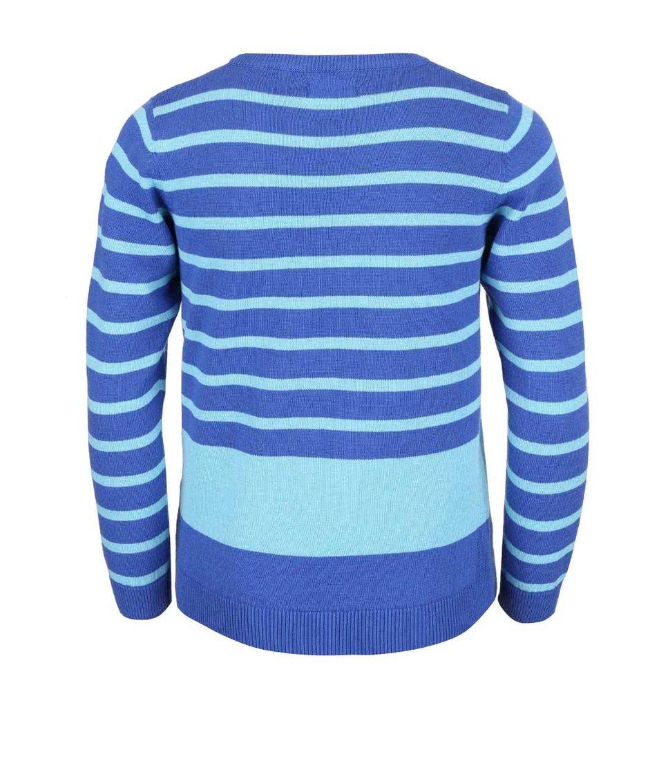 Modrý dětský pruhovaný svetr Blue Seven
