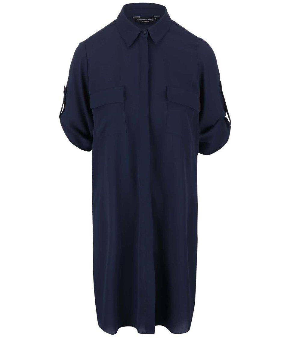 Modrá dlouhá košile Dorothy Perkins