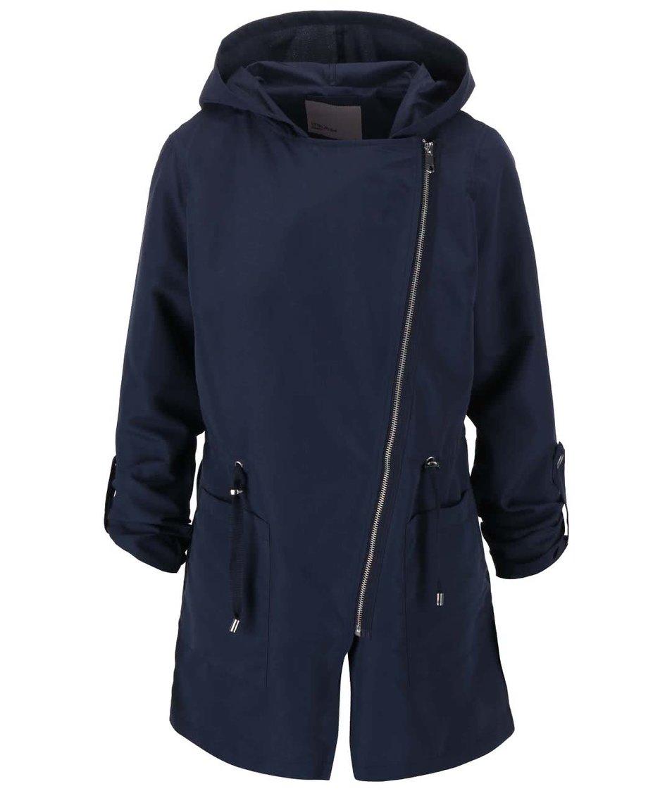 Tmavě modrá lehká parka s kapucí Vero Moda Elya