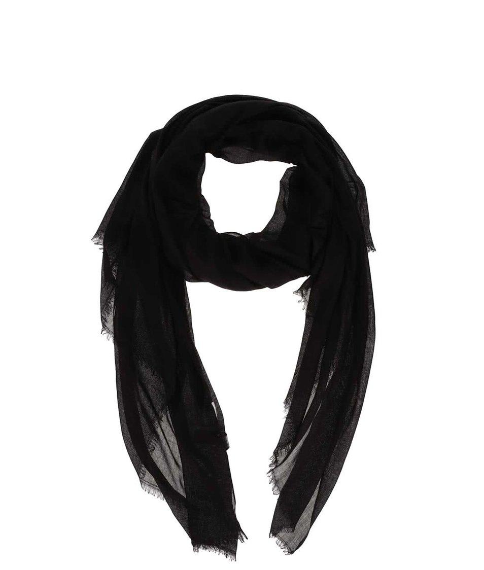 Černá dlouhá šála Pieces Tilda