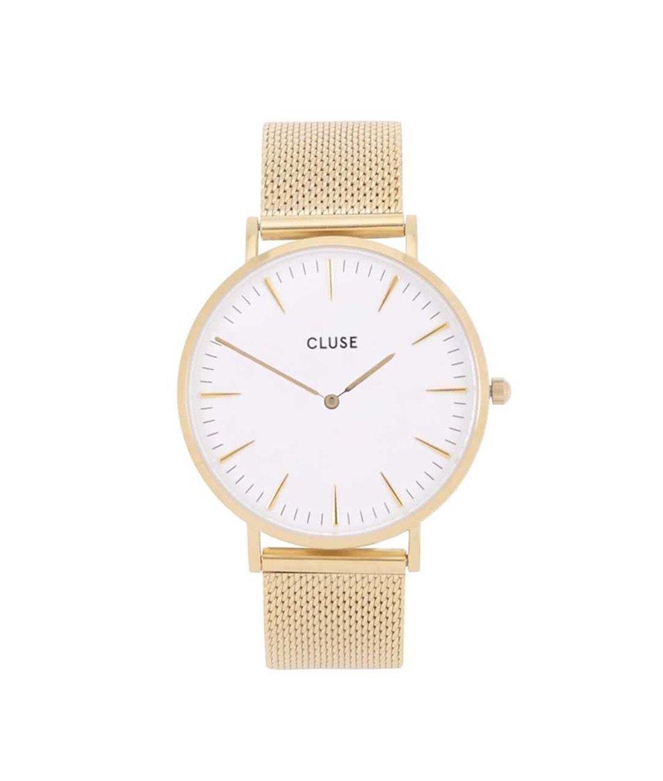 d2dd25745d7 Dámské hodinky v zlaté barvě CLUSE La Bohème Mesh - Akční cena ...