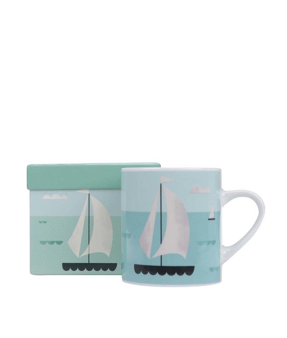 Porcelánový hrnek s dárkovou krabičkou Magpie Sailboat