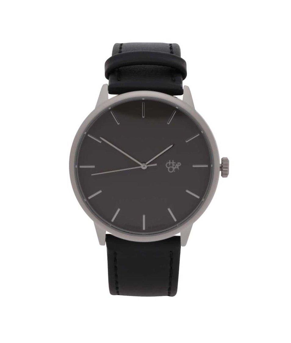 Černé unisex veganské hodinky Cheapo Khorshid Metal
