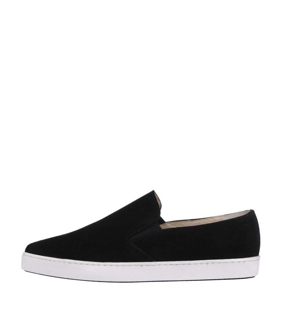 Černé kožené loafers OJJU