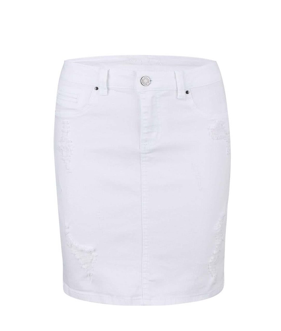 Bílá džínová sukně VILA Mon