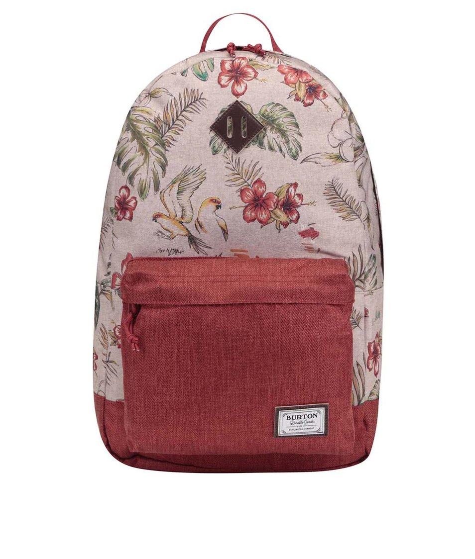 Světle hnědý batoh s květinami Burton Kettle