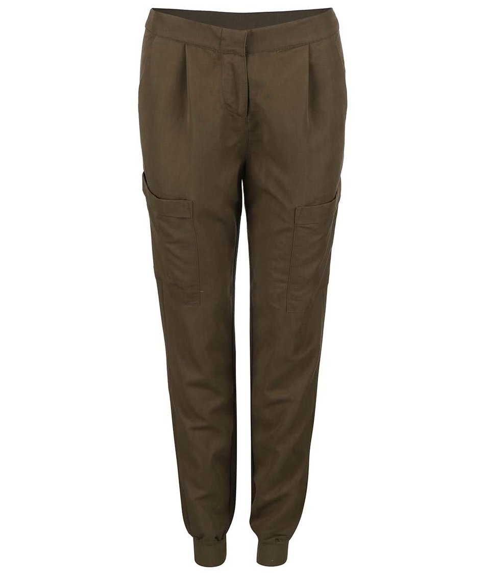 Khaki kapsáčové kalhoty Vero Moda Indi