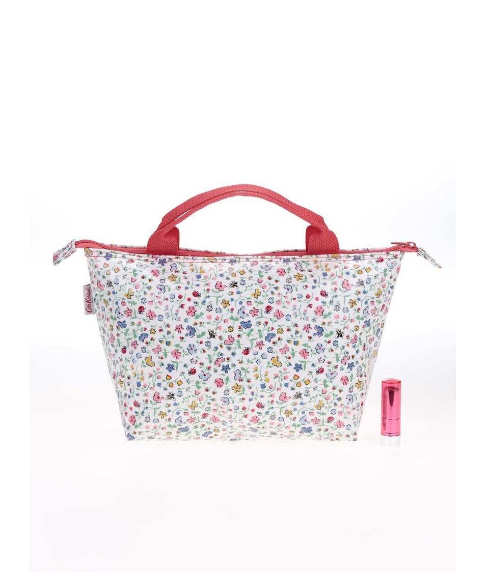 Bílá vzorovaná taška na kosmetiku Cath Kidston