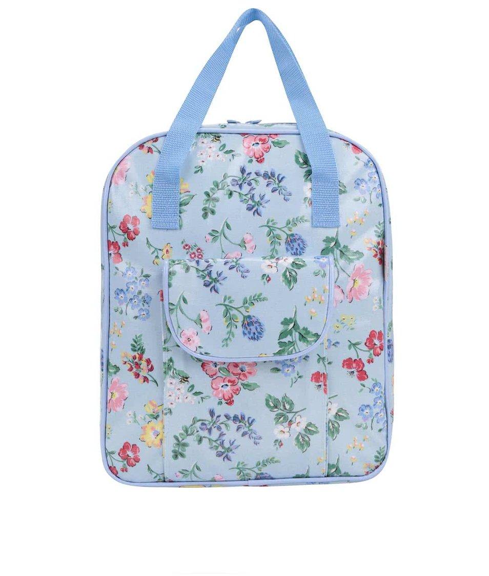 Světle modrý vzorovaný batoh s jídelním náčiním Cath Kidston