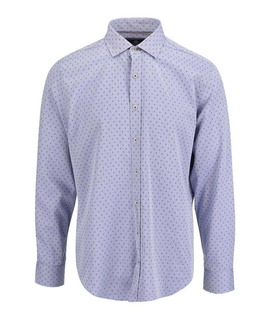 Modrá pánská vzorovaná košile bugatti - Akční cena  d5d19616c5