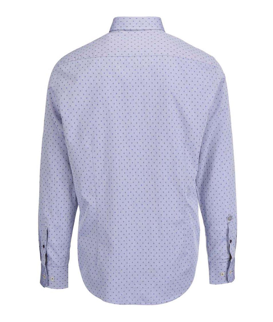Modrá pánská vzorovaná košile bugatti Modrá pánská vzorovaná košile bugatti  ... aa4defc215