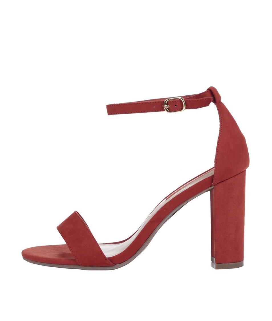 Oranžové páskové sandálky na podpatku Dorothy Perkins