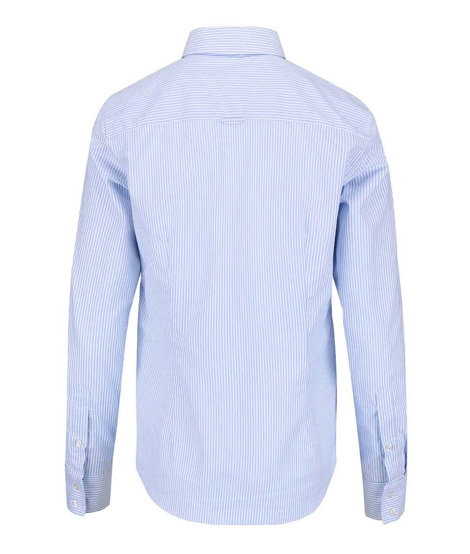 Modrá košile s bílými proužky GANT