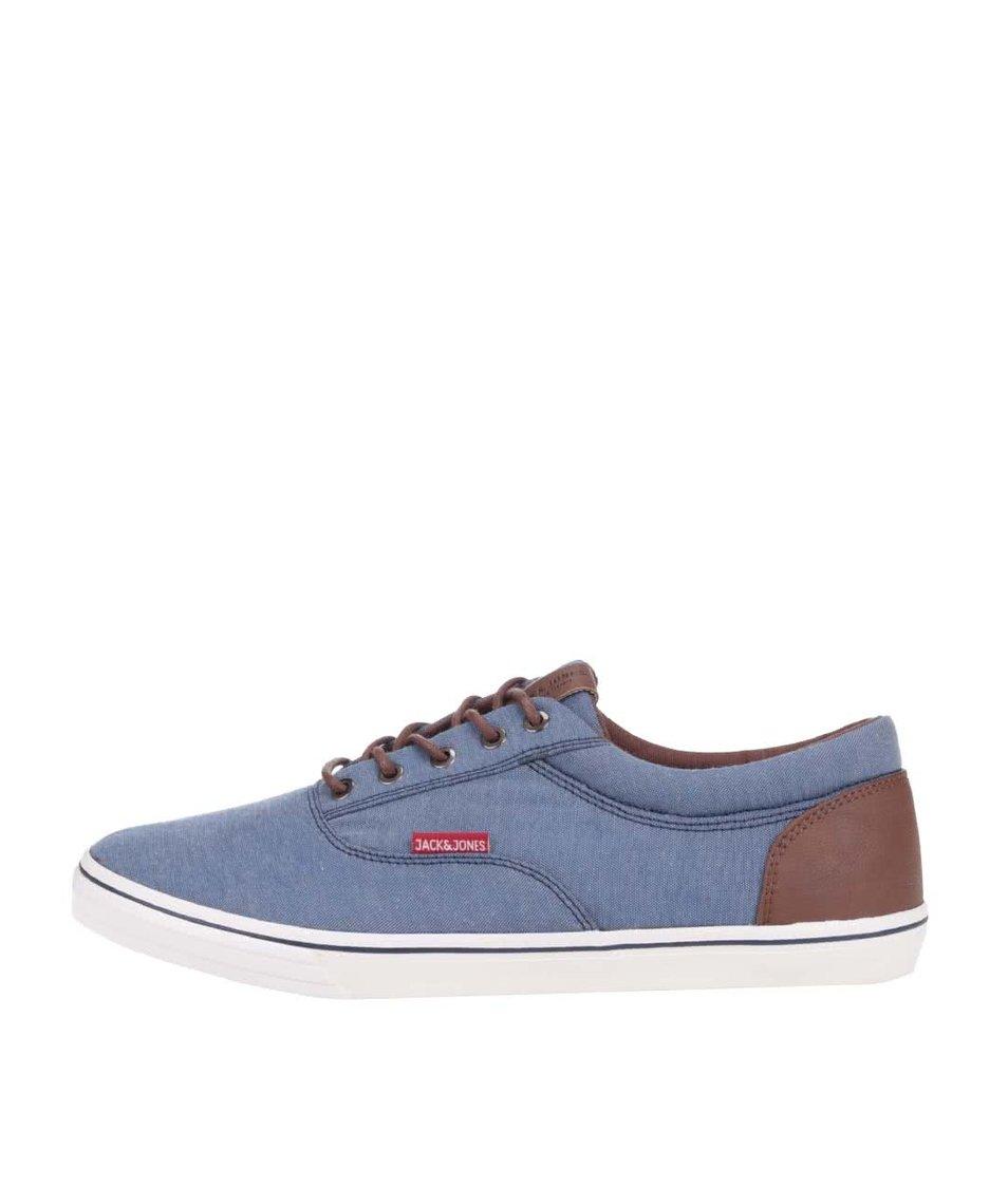 Modré tenisky s hnědými detaily Jack & Jones Vision
