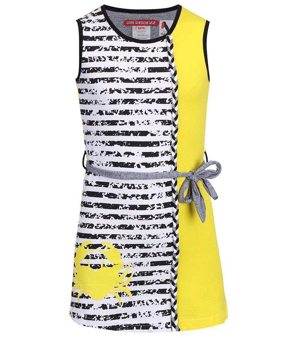 Bílo-žluté pruhované šaty LoveStation22 Christina