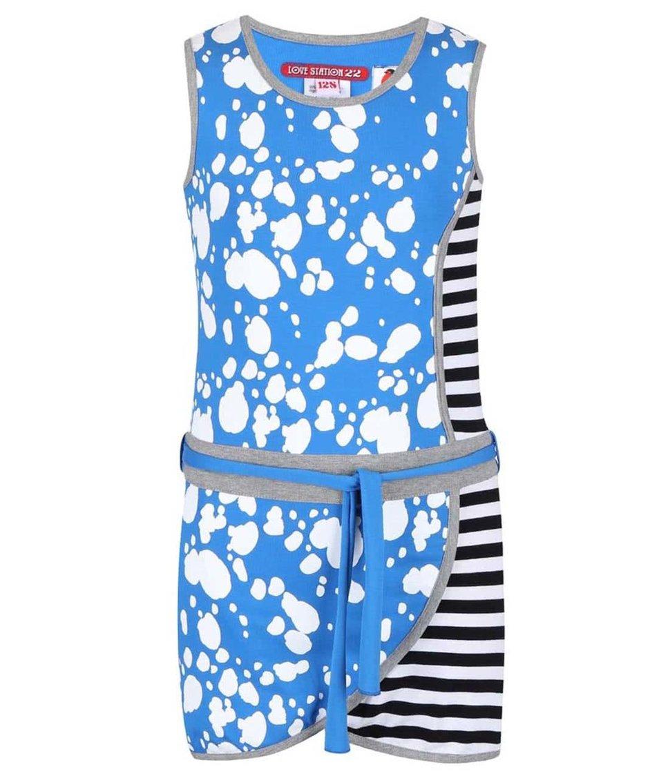 Modré vzorované holčičí šaty LoveStation22 Turtle Valentina