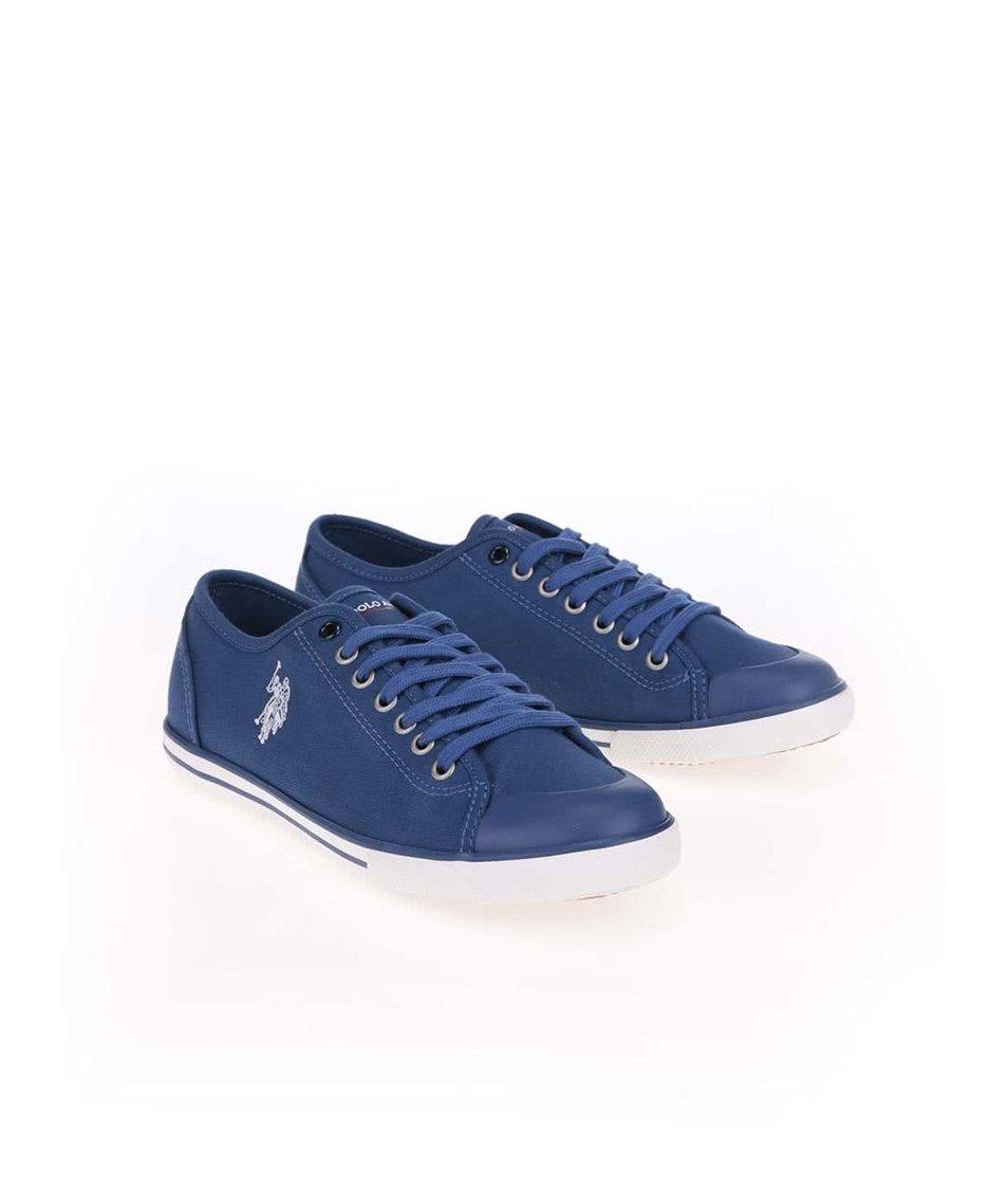 Modré dámské plátěné tenisky U.S. Polo Assn. Narya