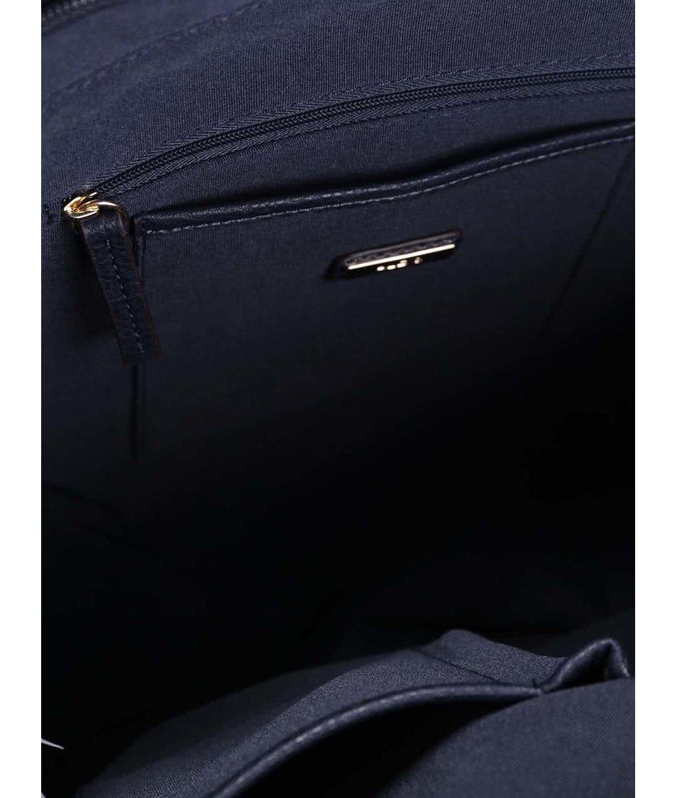 Hnědo-modrá pruhovaná kabelka ALDO Bogard