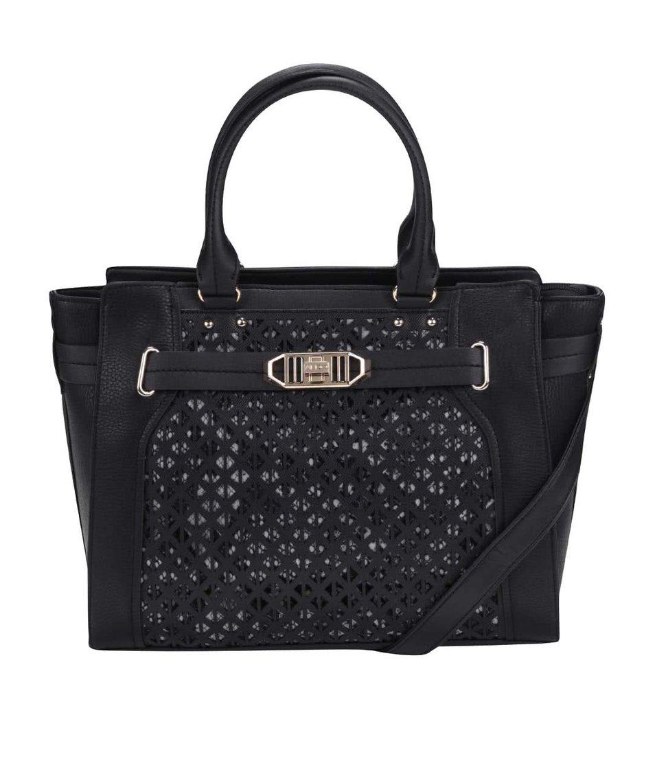 Černá kabelka s perforovaným vzorem ALDO Agapanthus