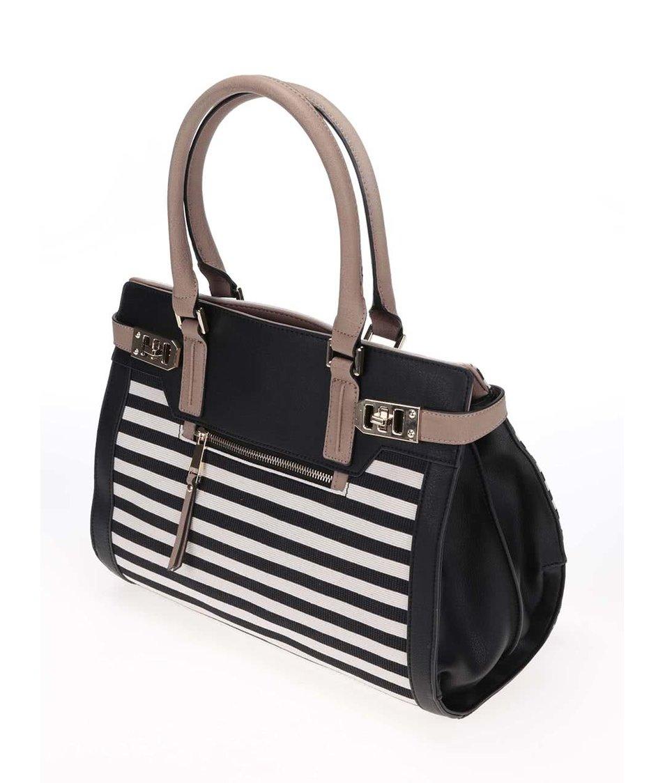 2853fef4a9 Krémovo-černá pruhovaná kabelka ALDO Goldtooth - SLEVA!