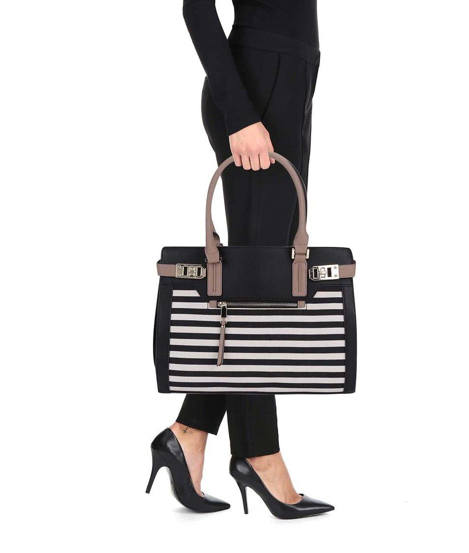 Krémovo-černá pruhovaná kabelka ALDO Goldtooth