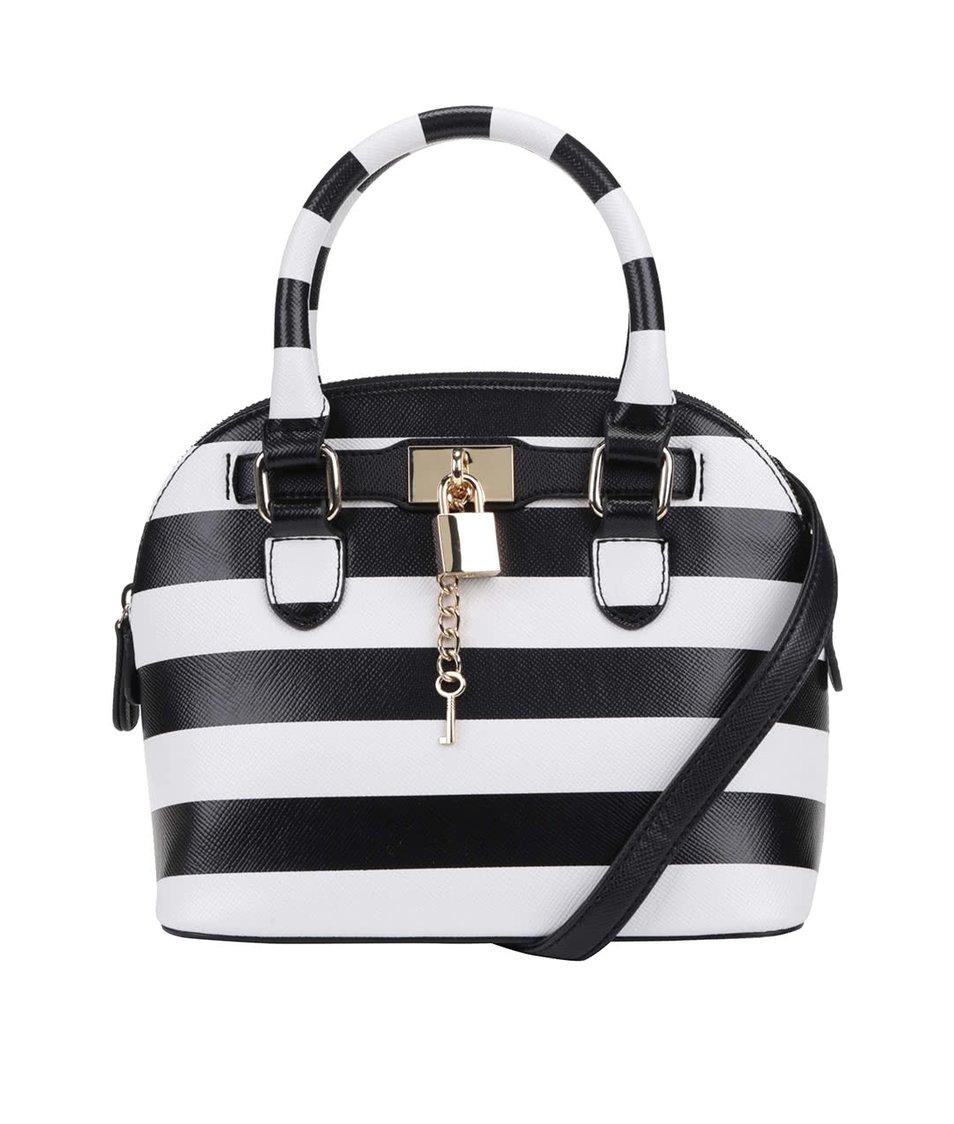 Bílo-černá malá pruhovaná kabelka ALDO