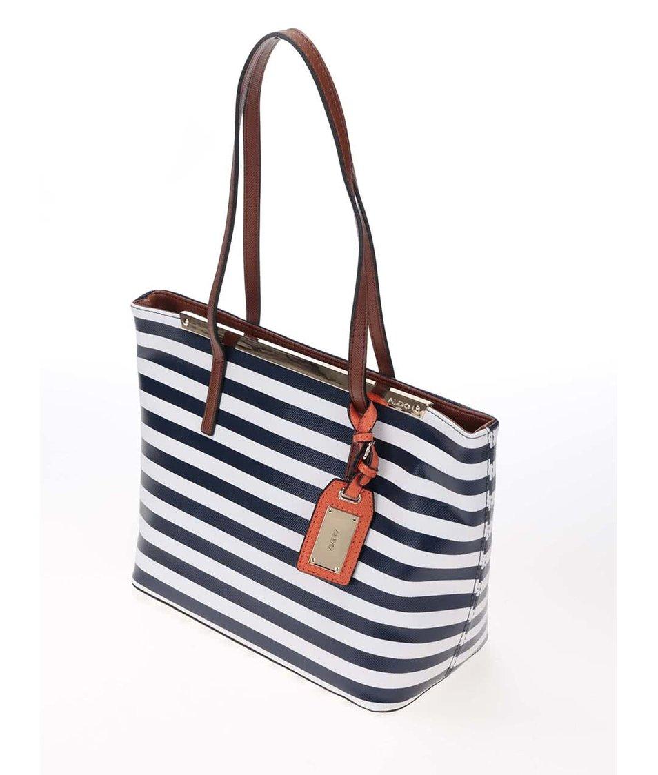 Bílo-modrá pruhovaná kabelka ALDO Vanwert
