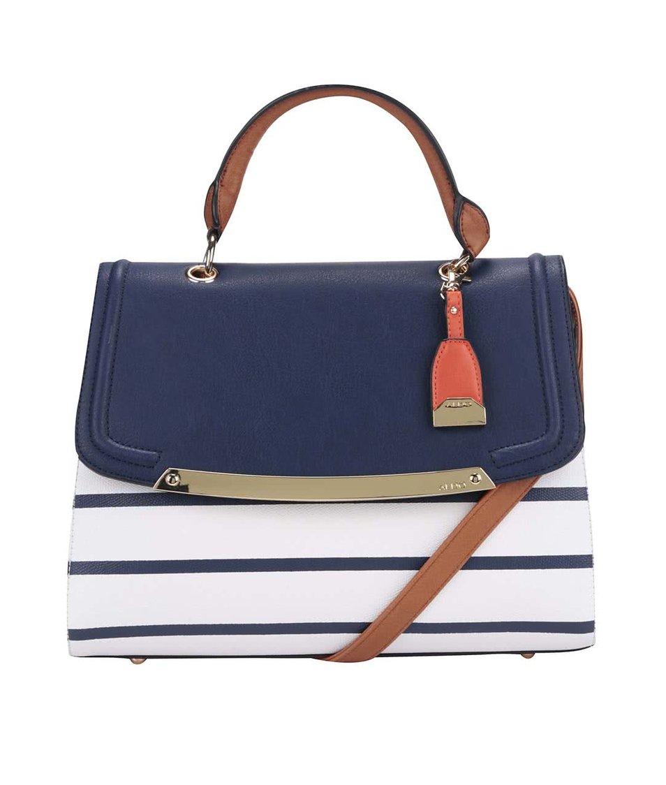 Bílo-modrá pruhovaná kabelka ALDO Orange