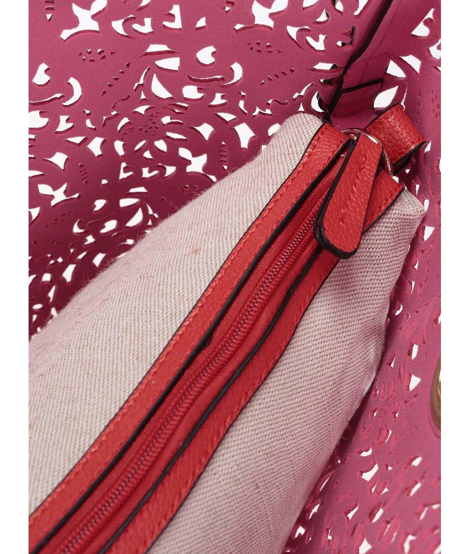 Červený perforovaný shopper 2 v 1 ALDO Montemesola