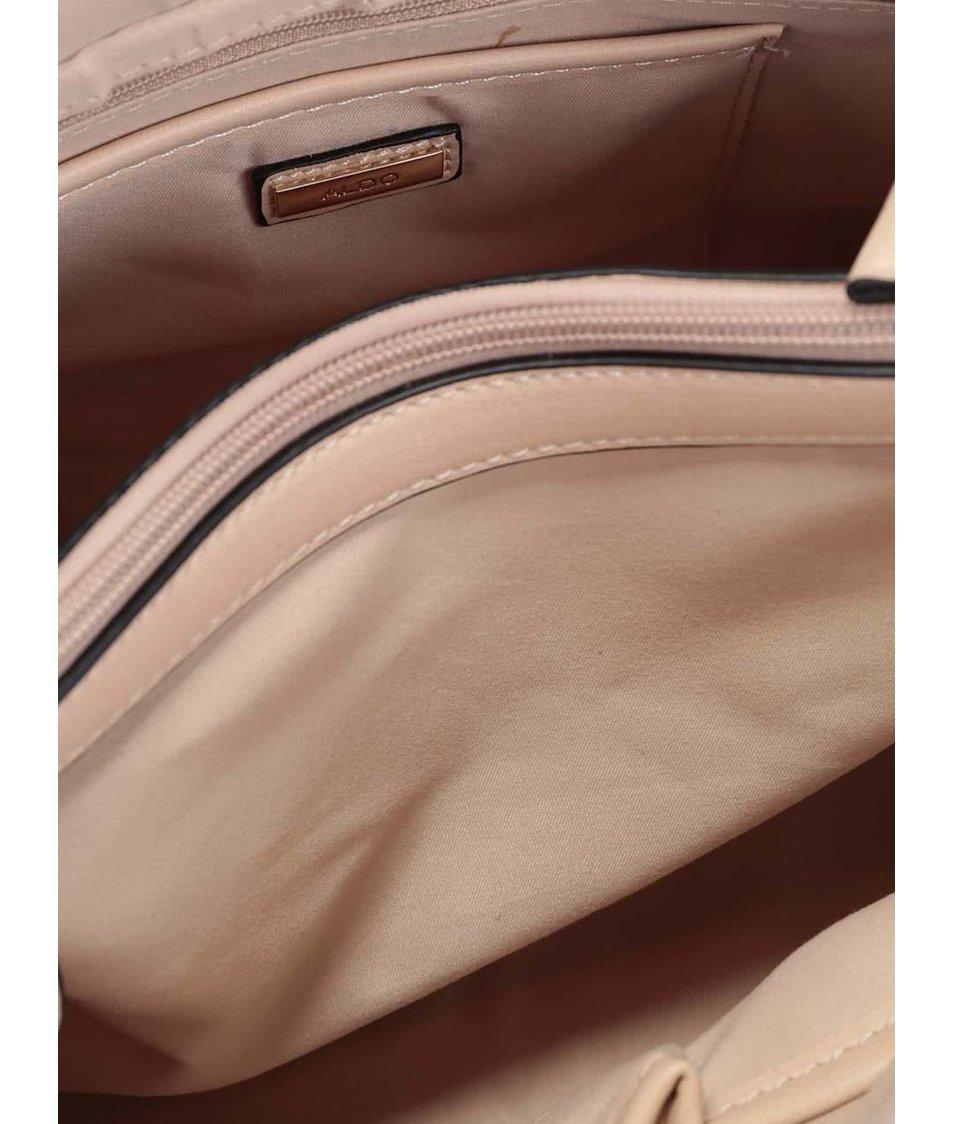 Krémová perforovaná kabelka se střapcem ALDO Cobra