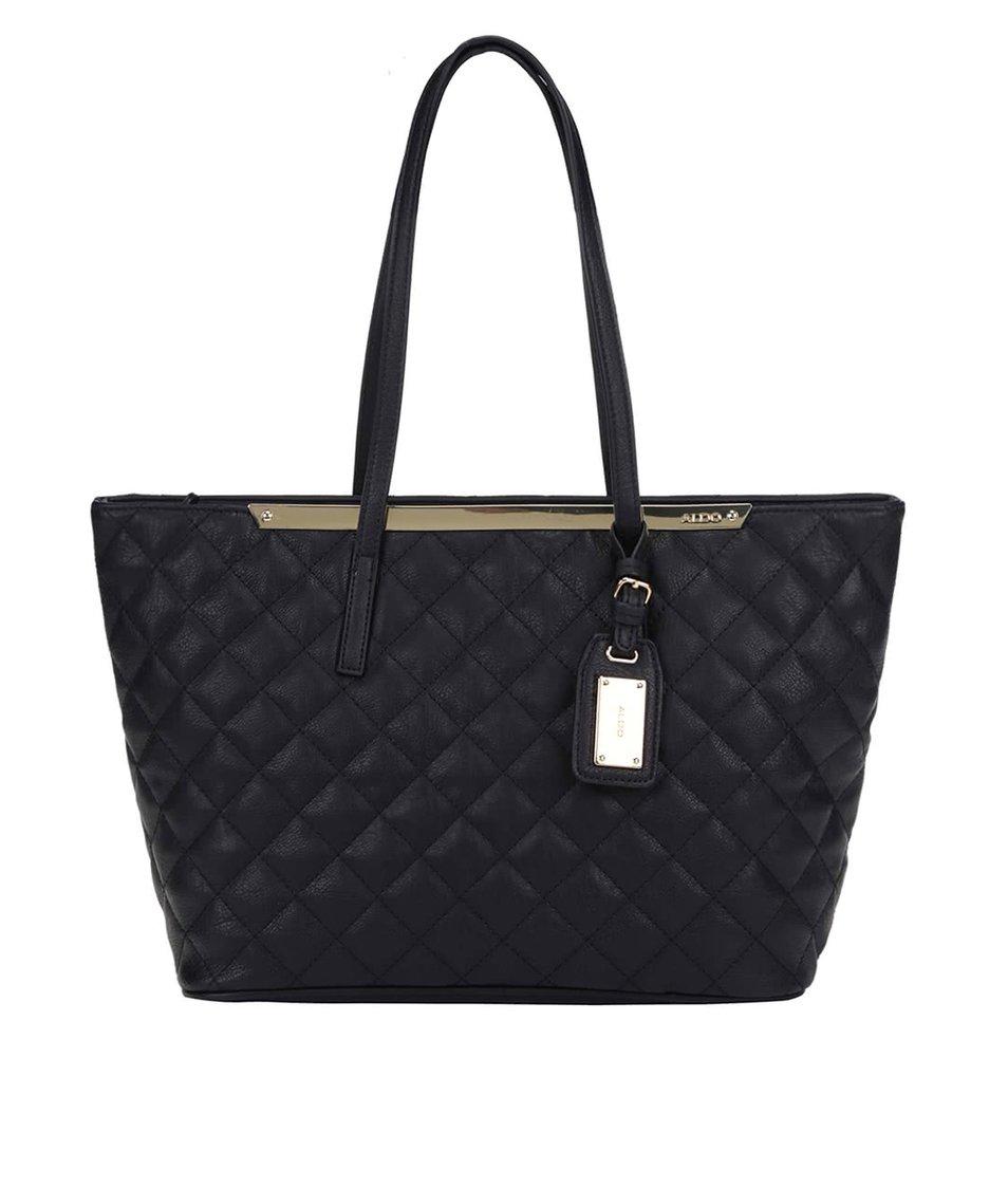 Černá prošívaná kabelka ALDO Crabapple