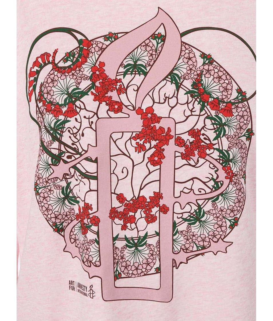 """""""Dobrá"""" růžová dámská mikina pro Amnesty International"""