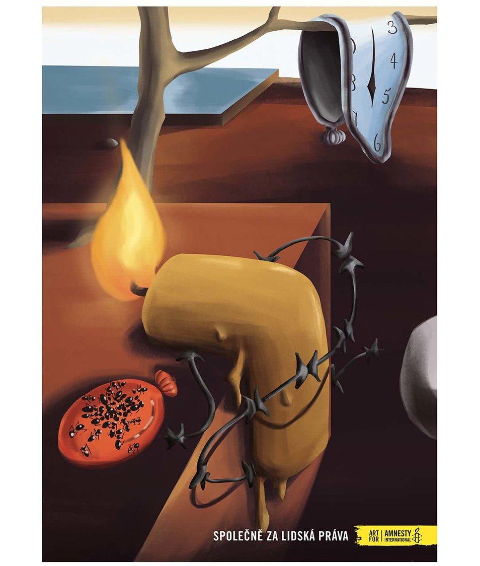 """""""Dobrý"""" plakát Dalí pro Amnesty International"""