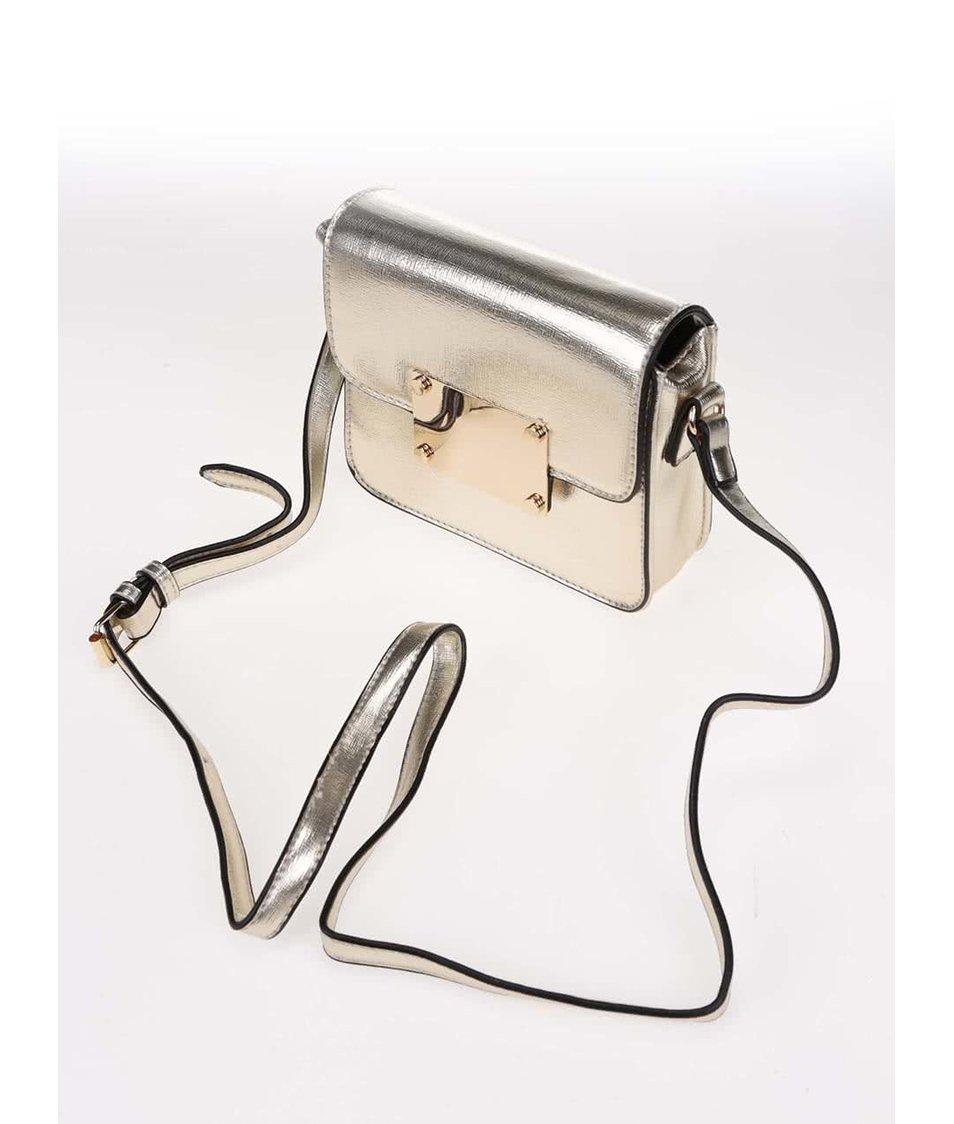 Malá crossbody kabelka v zlaté barvě ALDO Ibiasa
