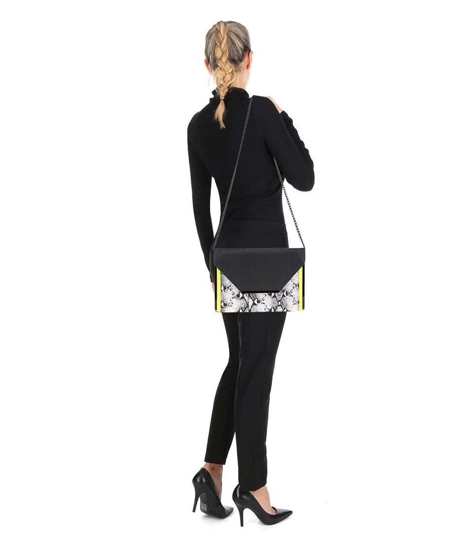 Bílo-černá crossbody kabelka ALDO Melichar