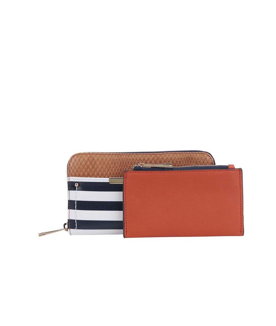 Modrá pruhovaná peněženka ALDO Nyssa