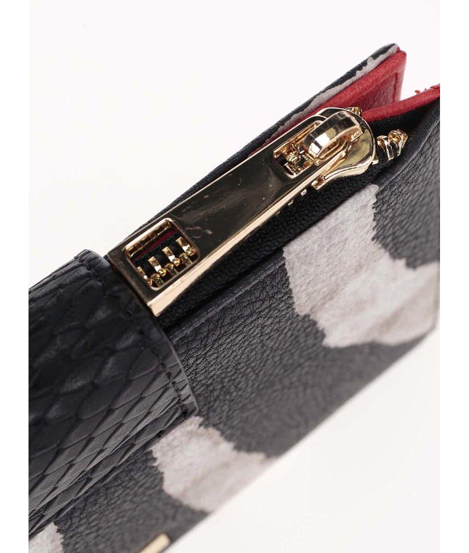 Černá vzorovaná peněženka ALDO Okolo