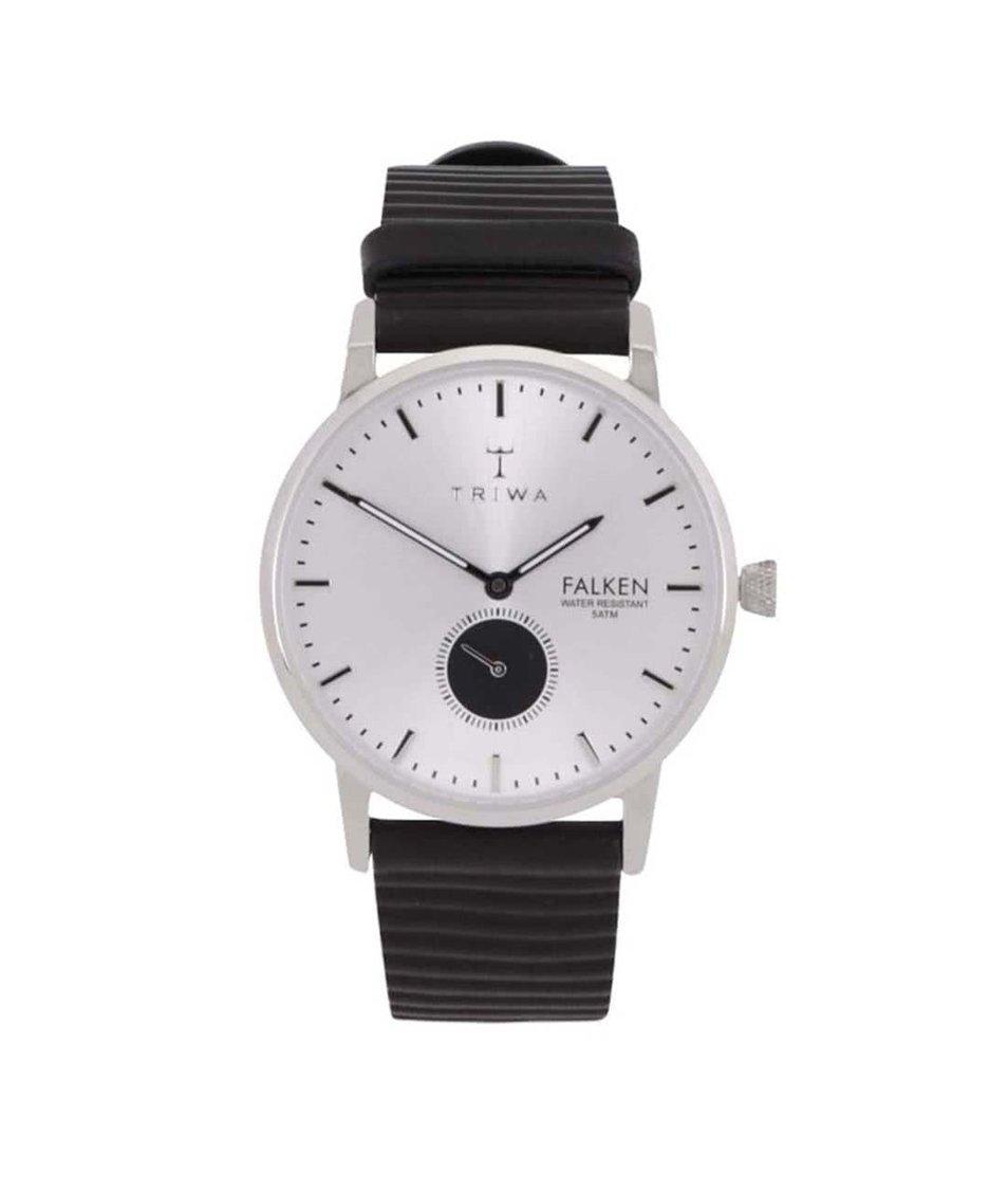 Černé kožené unisex hodinky TRIWA Charles Falken