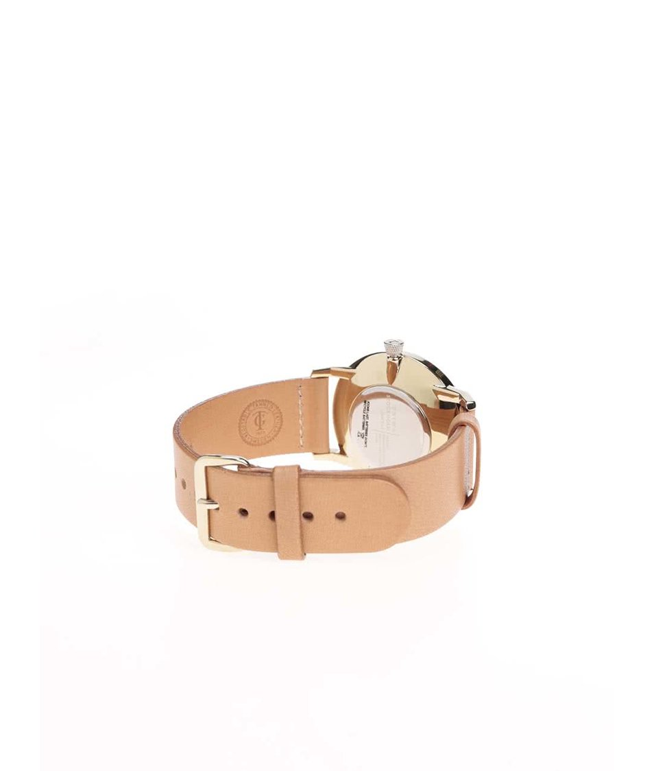 Světle hnědé kožené unisex hodinky TRIWA Birch Falken