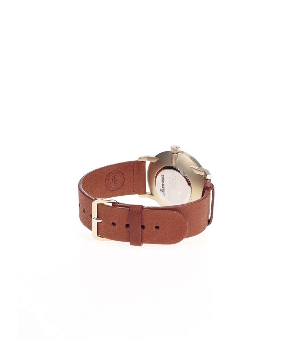 Hnědé kožené unisex hodinky s modrým ciferníkem TRIWA Loch Falken