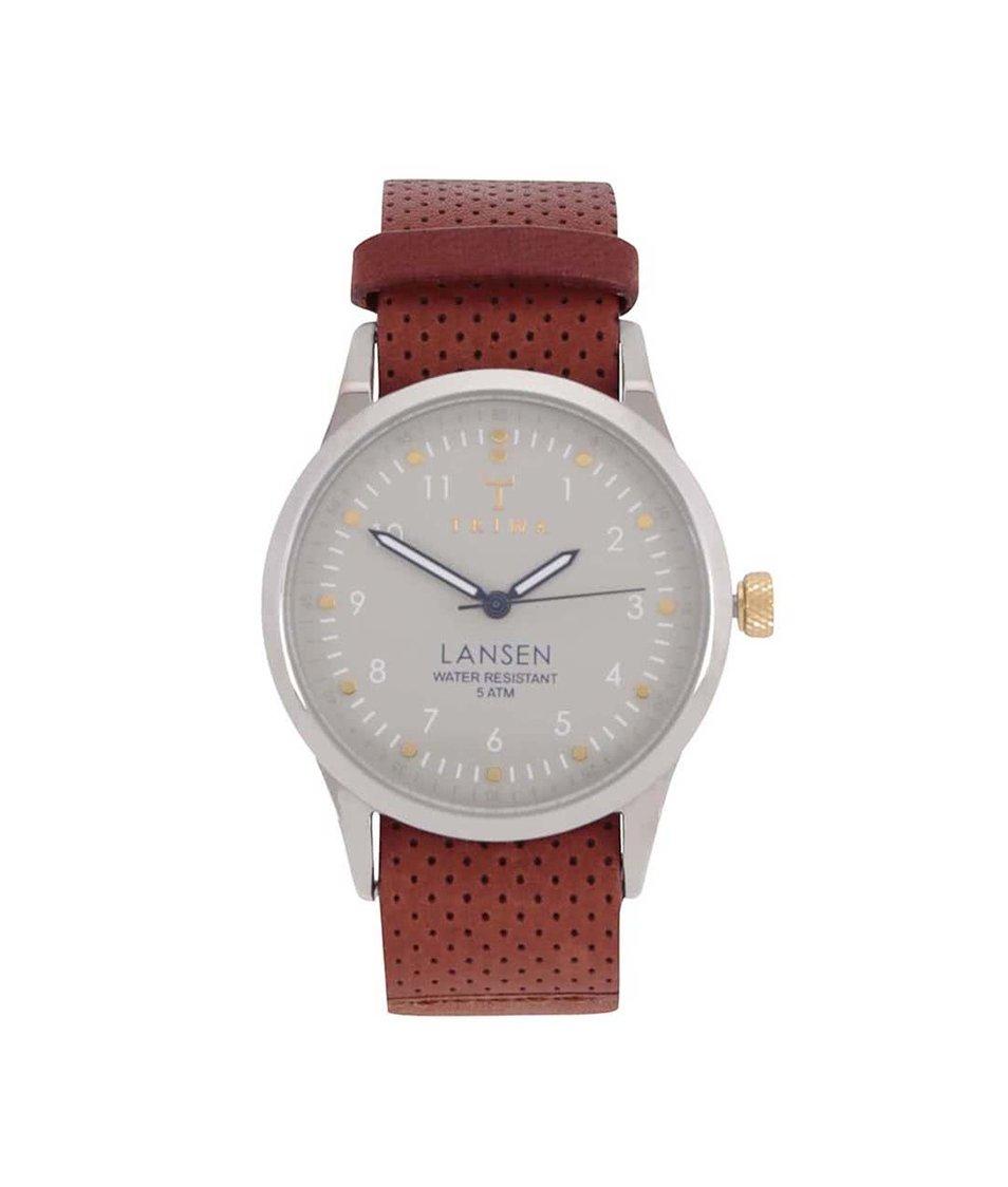 Hnědé unisex hodinky TRIWA Dawn Lansen