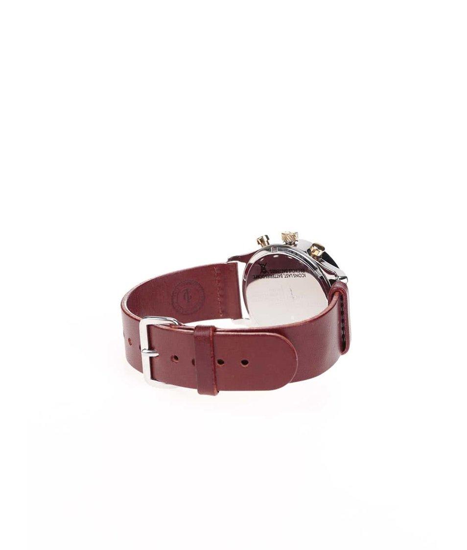Hnědé unisex kožené hodinky s ciferníkem ve stříbrné barvě TRIWA Loch Lansen