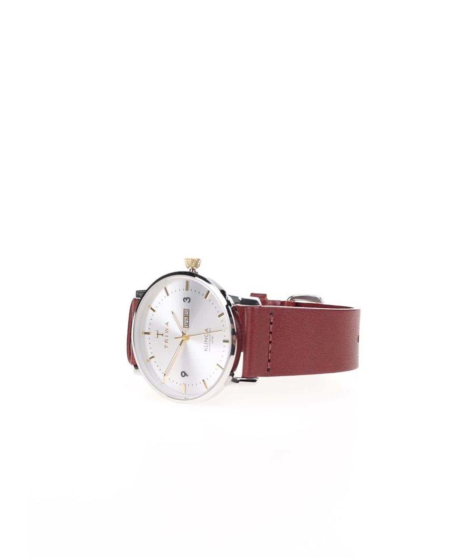Hnědé unisex hodinky TRIWA Gleam Klinga